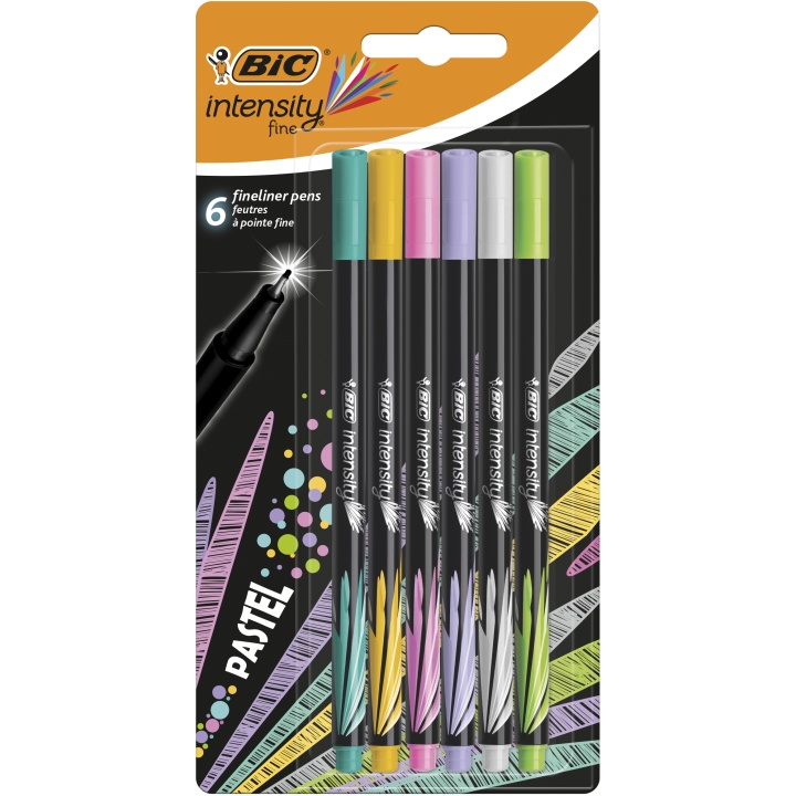 Intensity Fineliner 6-set Pastel Colors i gruppen Pennor / Skriva / Fineliners hos Pen Store (100238)