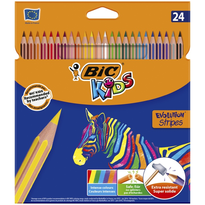 Kids Evolution Stripes Färgpennor 24-set (5 år+) i gruppen Kids / Barnpennor / 5 år+ hos Pen Store (100245)