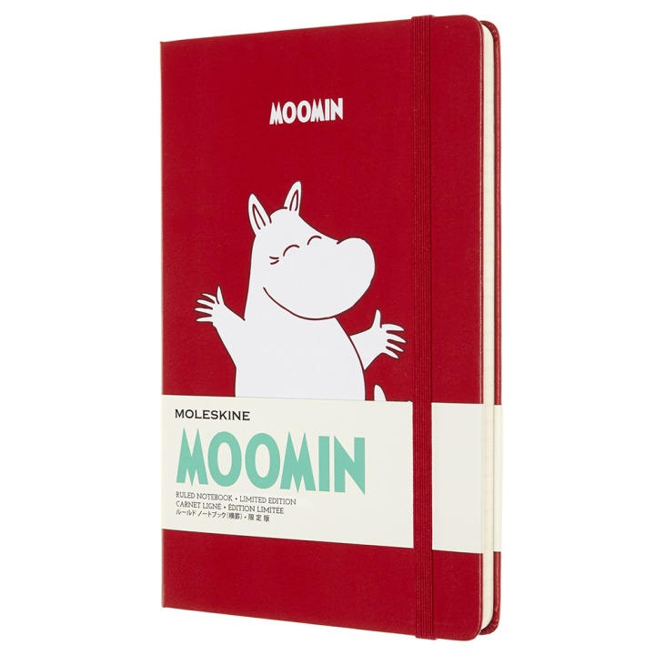Hardcover Large Moomin Red Ruled