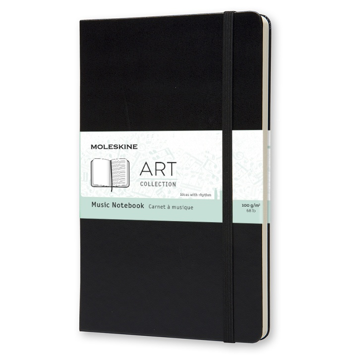Art Music Notebook Large Black