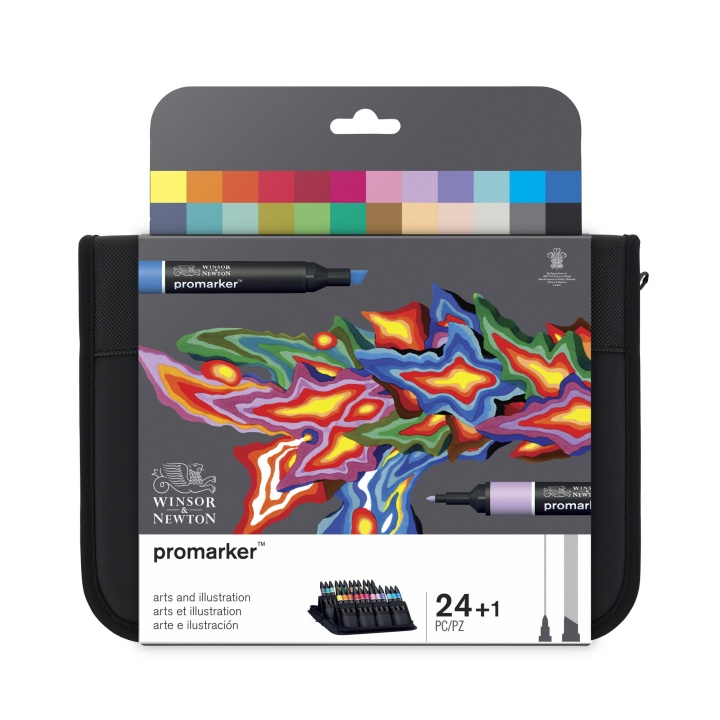 Promarker Arts & Illustration Wallet 24-set i gruppen Pennor / Konstnärspennor / Tuschpennor hos Pen Store (100563)