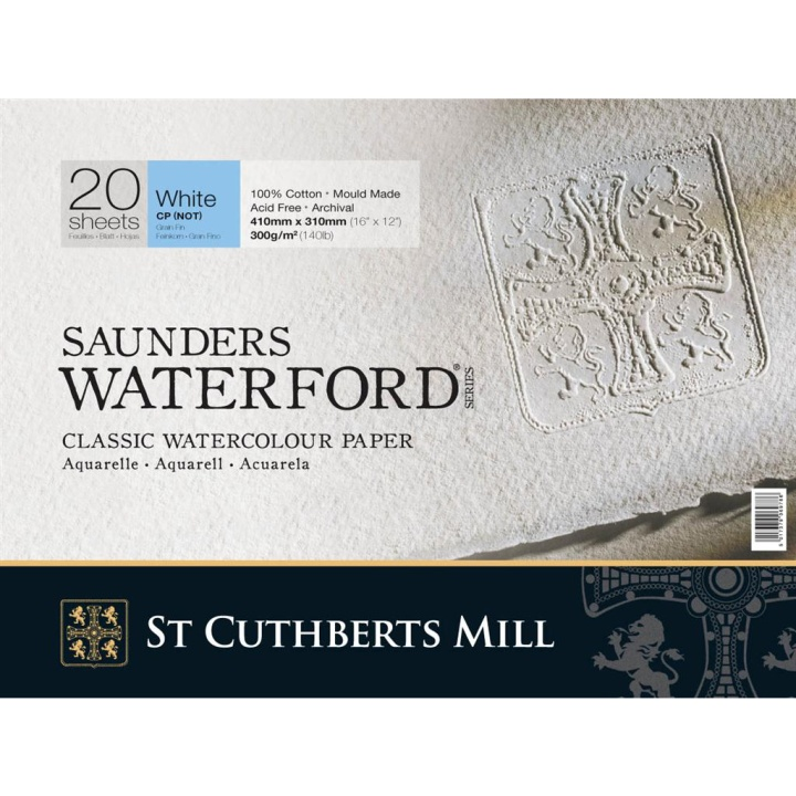Saunders Waterford Akvarellblock White CP/NOT 41x31 cm 300g