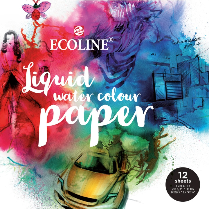 Ecoline Paper Pad 12-pack
