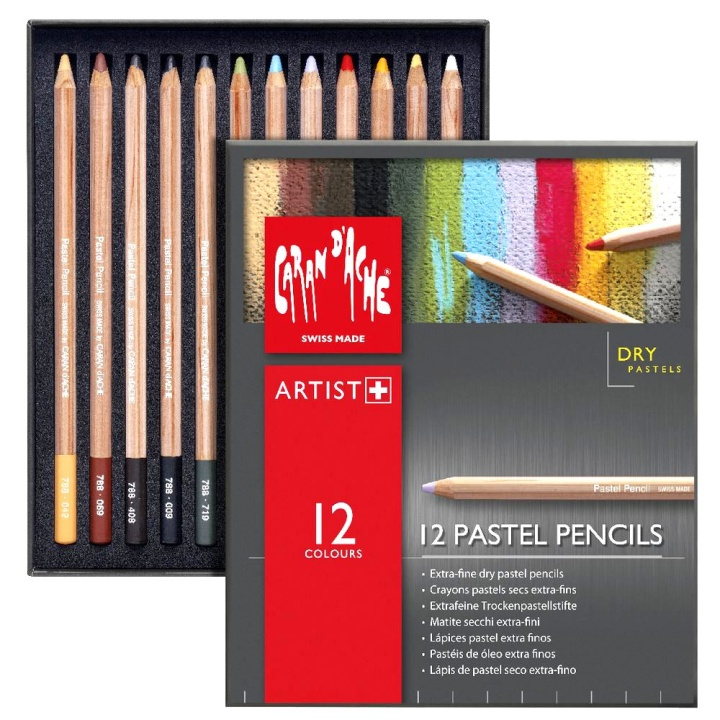 Pastel Pencils 12-set