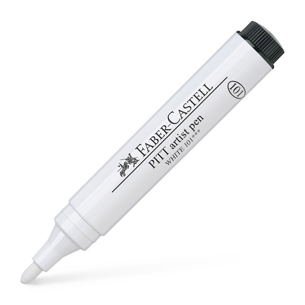 India Ink Pitt Artist Pen White 2.5 mm i gruppen Pennor / Konstnärspennor / Tuschpennor hos Pen Store (107603_r)