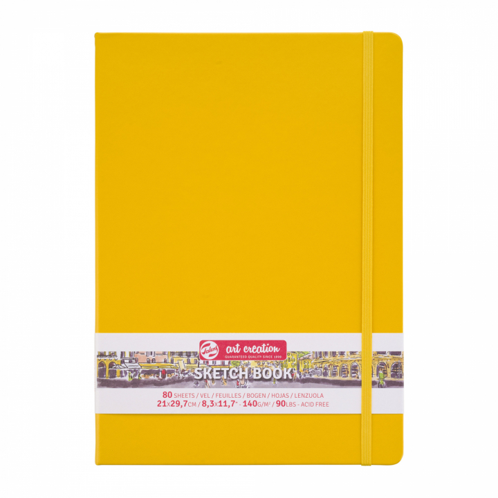Art Creation Sketchbook A4 Golden Yellow i gruppen Papper & Block / Konstnärsblock / Skissböcker hos Pen Store (111766)