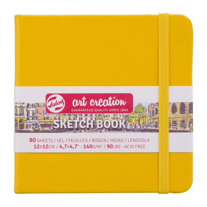 Art Creation Sketchbook Golden Yellow 12x12 cm i gruppen Papper & Block / Konstnärsblock / Skissböcker hos Pen Store (111770)