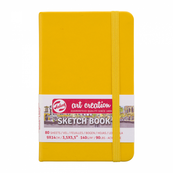 Art Creation Sketchbook Pocket Golden Yellow