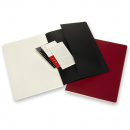 Cahier Subject A4 Black/Red Ruled