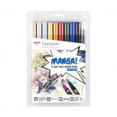 ABT Dual Brush 10-Set Manga Shonen