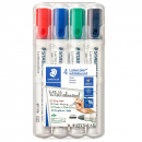 4-pack Lumocolor Whiteboard Round