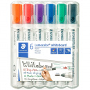 6-pack Lumocolor Whiteboard Round