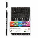 Fineliner Black 12-set