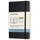 Kalender 2021 Monthly Softcover Pocket Black