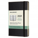 Kalender 2021 Weekly Vertical Hardcover Pocket Black